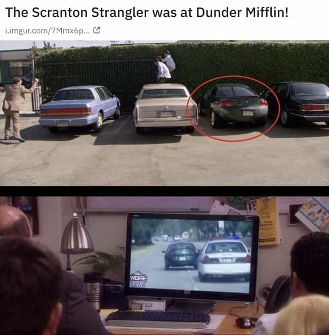 The Scranton Strangler W... is listed (or ranked) 3 on the list 30 Small But Poignant Details Fans Noticed About 'The Office' That Make The Show Even Funnier
