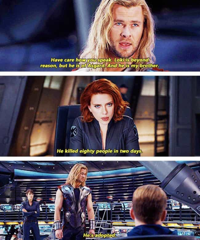 I Barely Know The Guy is listed (or ranked) 1 on the list 23 Thor Comebacks That Prove He's Low-Key The Funniest Avenger