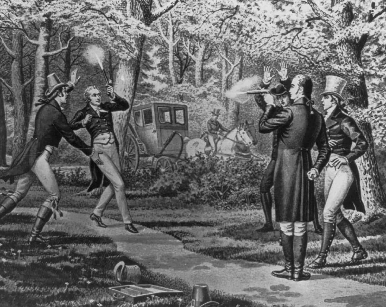 Hamilton Was Saved From A Duel is listed (or ranked) 2 on the list 14 Facts About Alexander Hamilton Left Out Of The Musical