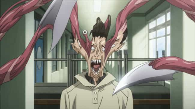 The Parasites - 'Parasyt... is listed (or ranked) 2 on the list 13 Anime Characters With Creepy Powers