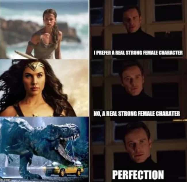 The Strongest Female Cha... is listed (or ranked) 2 on the list 21 Funny 'Jurassic Park' Memes That Only Clever Girls Will Understand