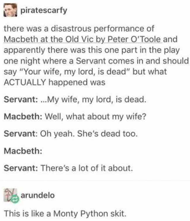 There's A Lot Of It Abou... is listed (or ranked) 2 on the list 29 Macbeth Memes That Make Our Cauldrons Bubble