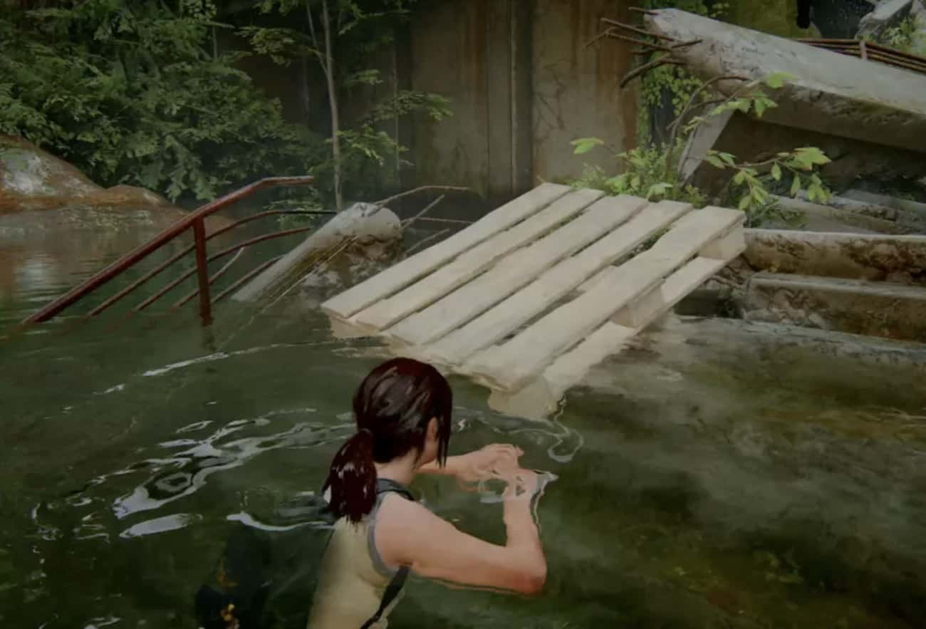 Pallet in the Water is listed (or ranked) 2 on the list 17 Easter Eggs You May Have Missed In 'The Last of Us Part II'