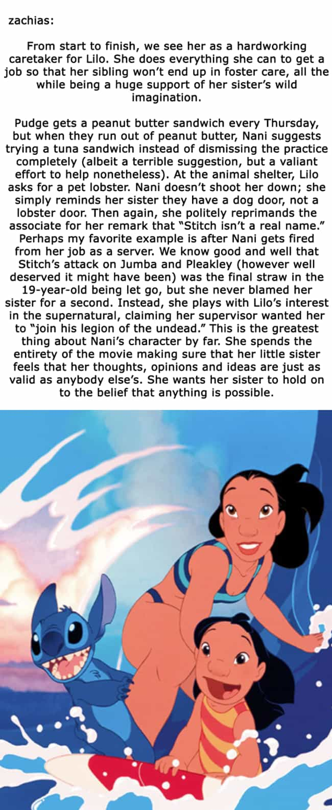Nani: The Ultimate Siste... is listed (or ranked) 3 on the list 15 Small But Poignant Details Fans Pointed Out About 'Lilo & Stitch' 18 Years Later