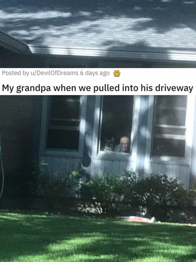Grandpa Waiting With His... is listed (or ranked) 3 on the list 31 Awesome Pictures That Went Viral In June 2020