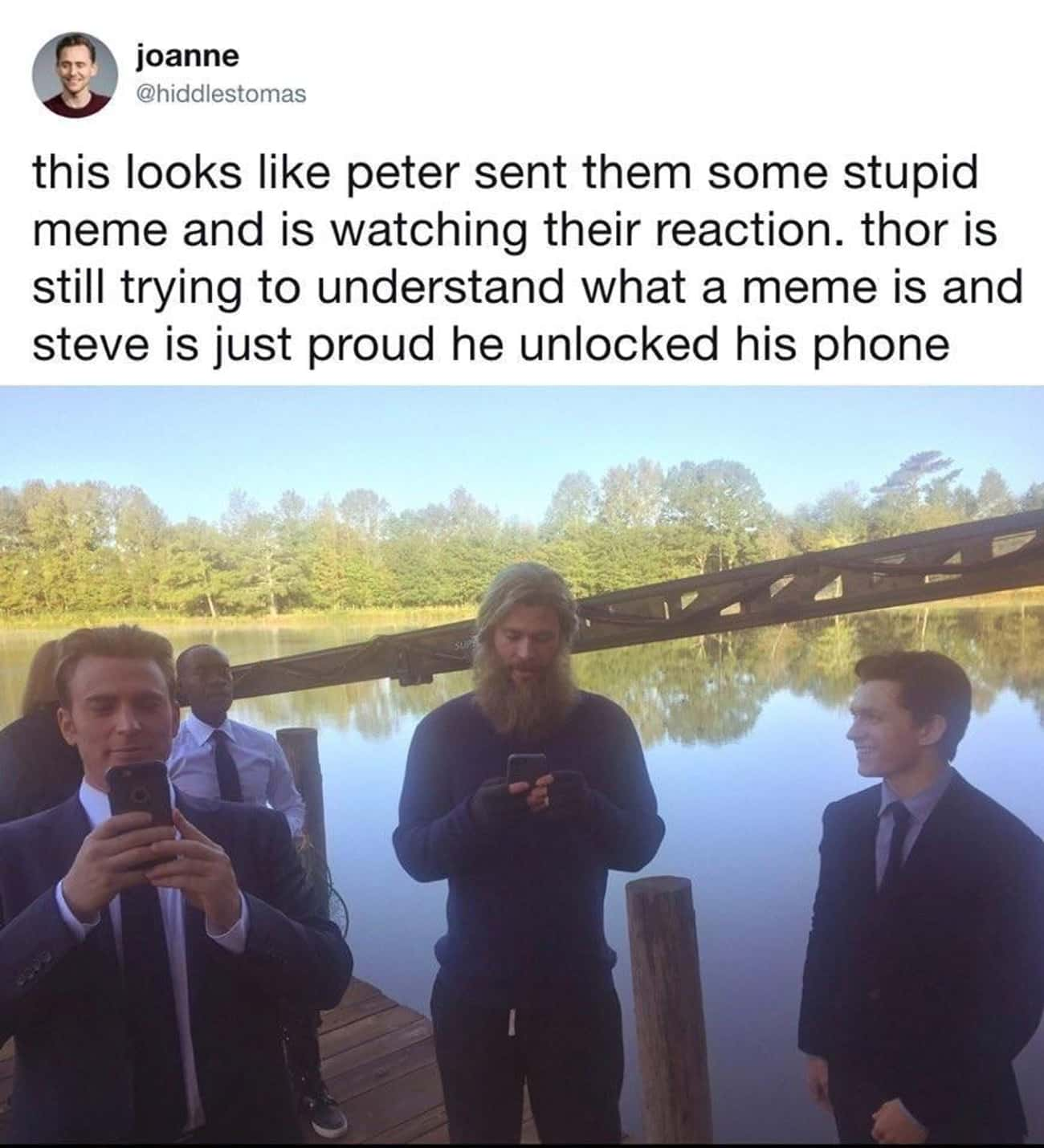 Wholesome Peter is listed (or ranked) 3 on the list Corny Captain America Memes We Couldn't Help But Laugh At