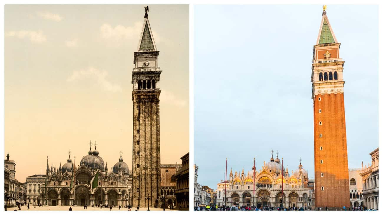 St. Mark's Campanile In Venice is listed (or ranked) 3 on the list FamousBuildings That WereRebuilt
