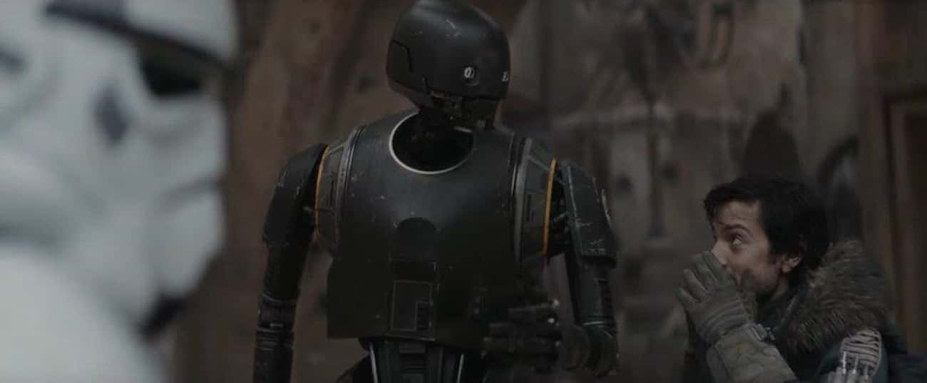 K-2SO's Slap And Warning - 'Ro is listed (or ranked) 4 on the list The Best Improvised And Unscripted Moments In The 'Star Wars' Movies