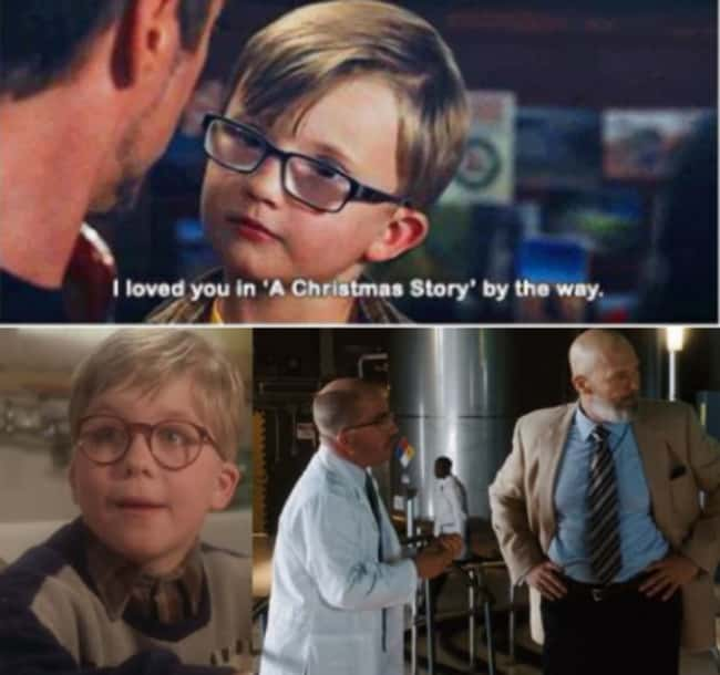 """Ralphie from """"A Christmas Story"""" did a cameo in Iron Man."""