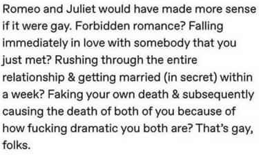 Picture It is listed (or ranked) 1 on the list 26 Romeo & Juliet Memes That Actually Made Us Laugh Out Loud