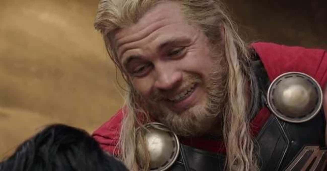 In 'Ragnarok,' Chris Hemsworth is listed (or ranked) 2 on the list Small But Poignant Details About Thor That Fans Noticed