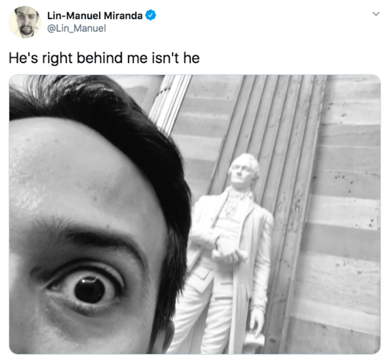 Don't Panic is listed (or ranked) 3 on the list 27 Lin-Manuel Miranda Tweets That Prove He Is Just As Amazing On Twitter As He Is On Stage