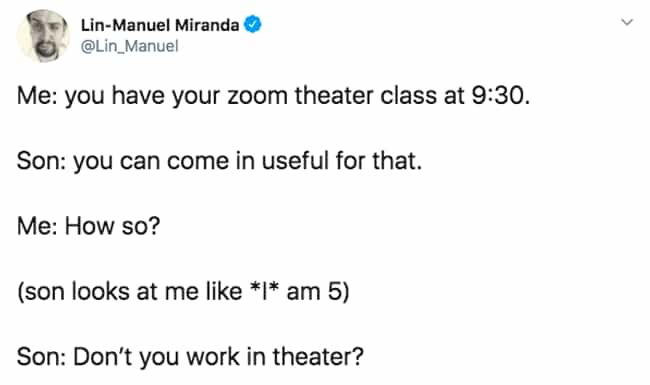 Well Don't You? is listed (or ranked) 3 on the list 27 Lin-Manuel Miranda Tweets That Prove He Is Just As Amazing On Twitter As He Is On Stage