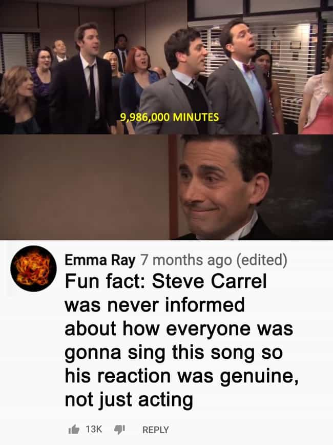 Michael's Goodbye Song ... is listed (or ranked) 3 on the list 20 Heartfelt Moments In The Office That Fans Noticed About The Series