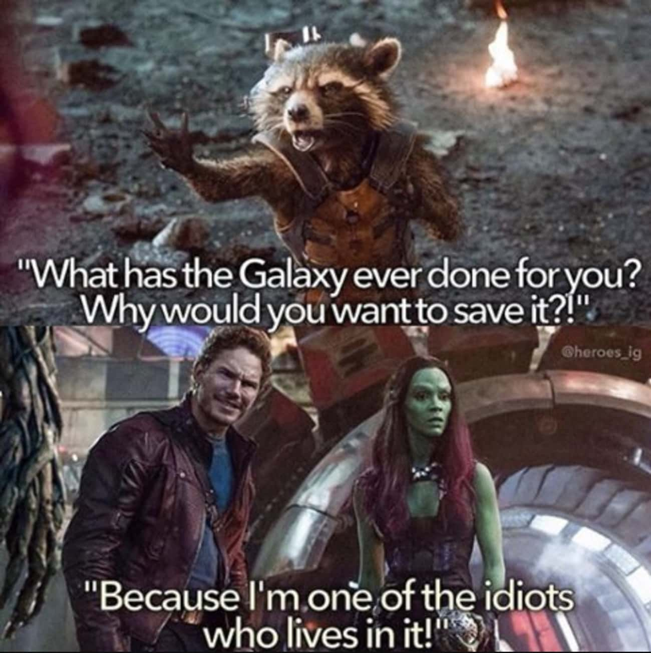 Kinda In A Bind Here is listed (or ranked) 2 on the list Guardians Of The Galaxy Comebacks Smoother Than Peter Quill's Mixtape