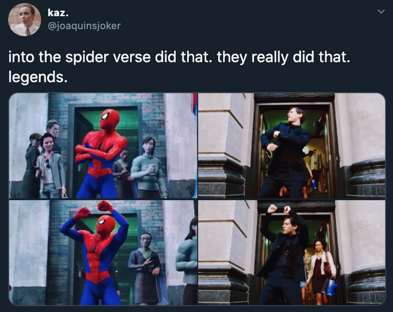They Did It is listed (or ranked) 2 on the list 34 Small But Poignant Details From 'Spider-Man: Into The Spider-Verse' That Fans Discovered