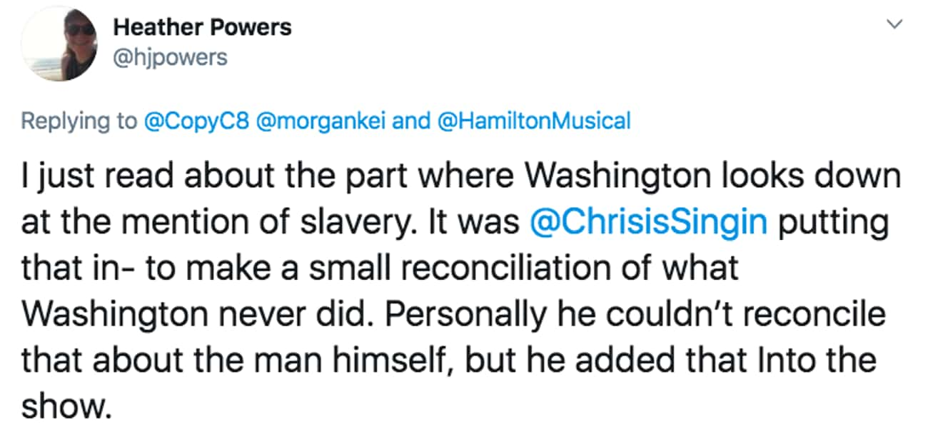 Speaks Out Against Slavery is listed (or ranked) 3 on the list 27 Small But Poignant Details That Fans Noticed About 'Hamilton' The Musical