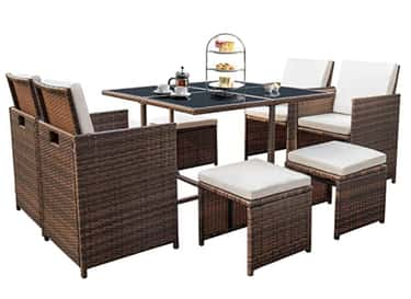 Full Patio Set is listed (or ranked) 2 on the list The 20 Best Patio Furniture Buys To Upgrade Your Outdoor Living