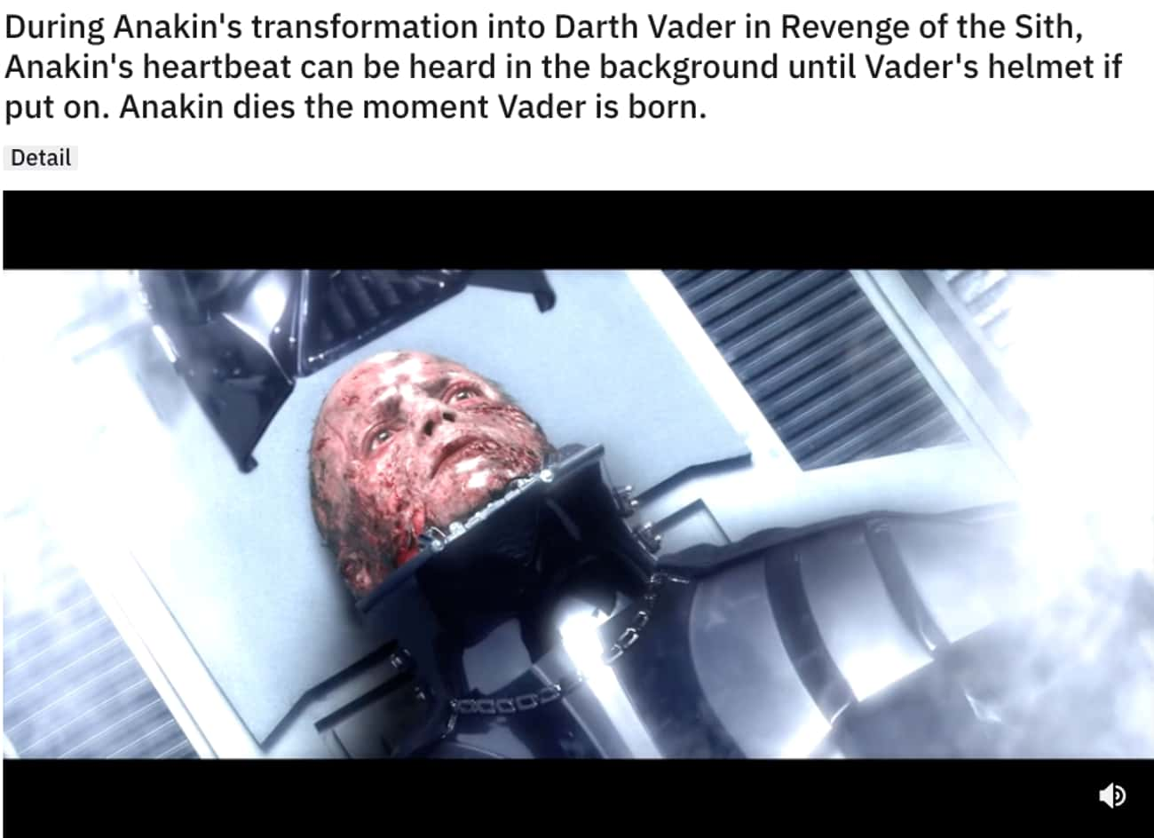 Bye Bye Anakin is listed (or ranked) 2 on the list 26Small But Poignant Details From 'Star Wars: Episode III - Revenge Of The Sith'