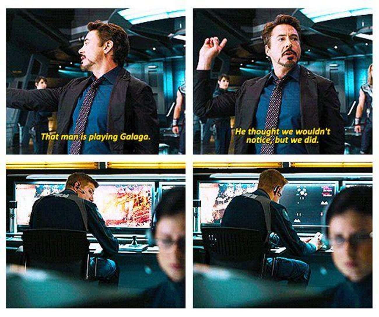 Joss Whedon Thought The Galaga is listed (or ranked) 3 on the list The Best Robert Downey Jr. Ad Libs In MCU Movies