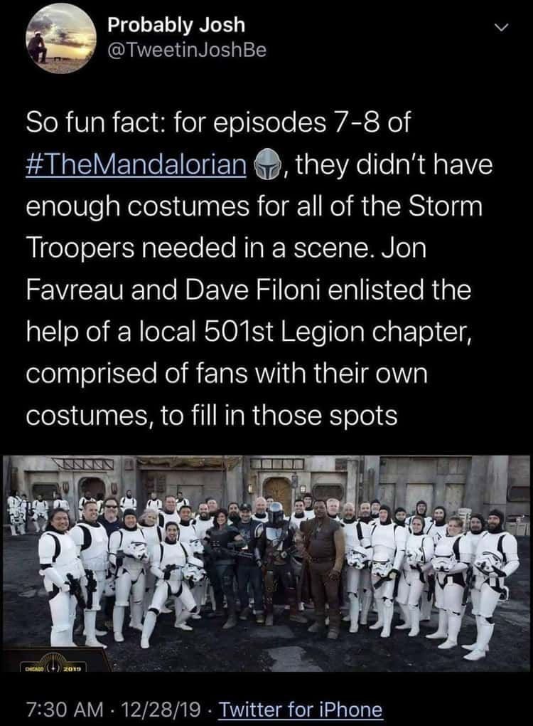 A Local Legion Chapter Filled In When The Show Ran Out Of Trooper Costumes