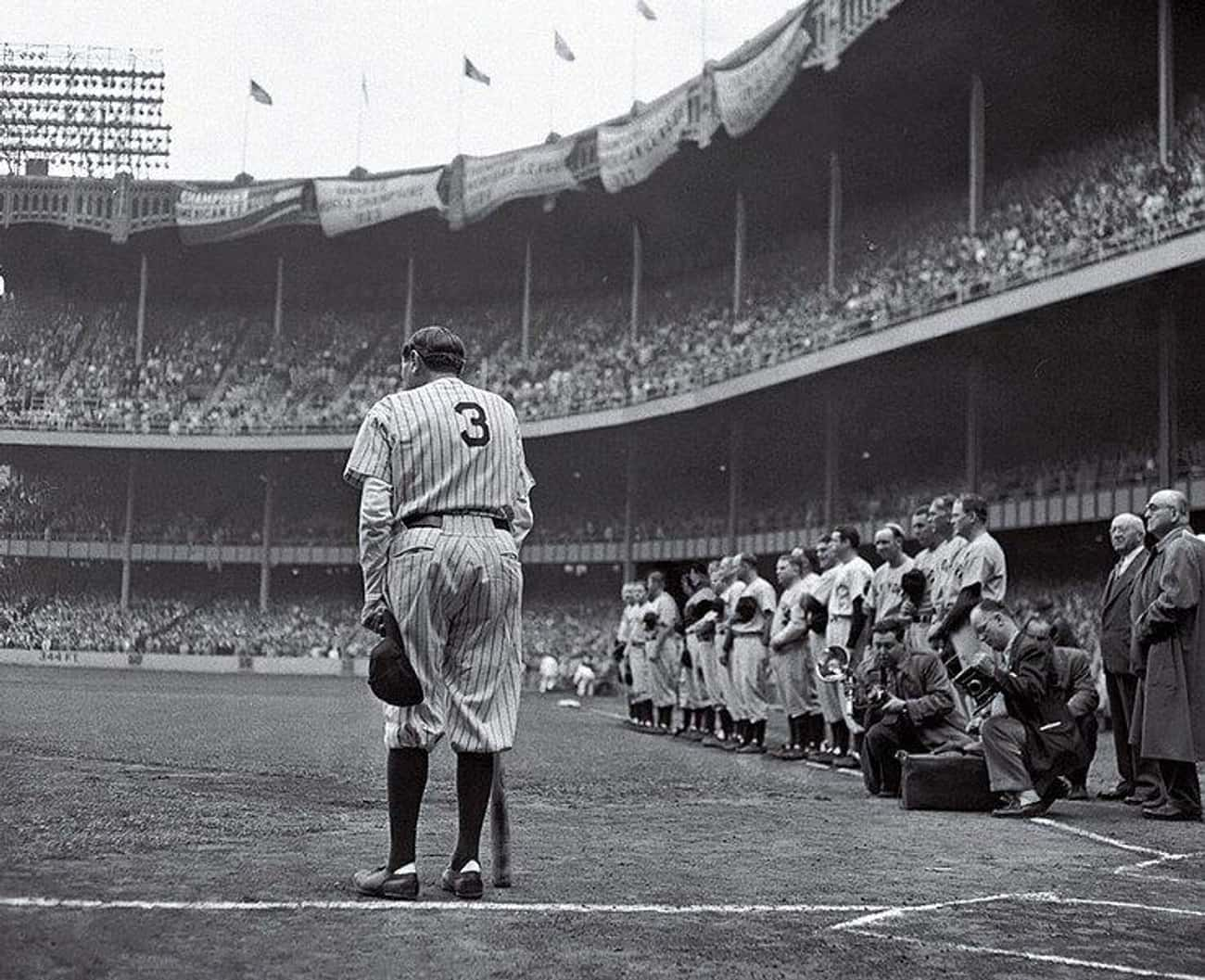 1949: 'Babe Ruth Bows Out' is listed (or ranked) 2 on the list Pulitzer Prize-Winning Photographs And The Stories Behind Them