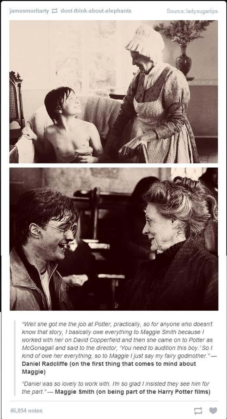 Maggie Smith Insisted On Daniel Radcliffe