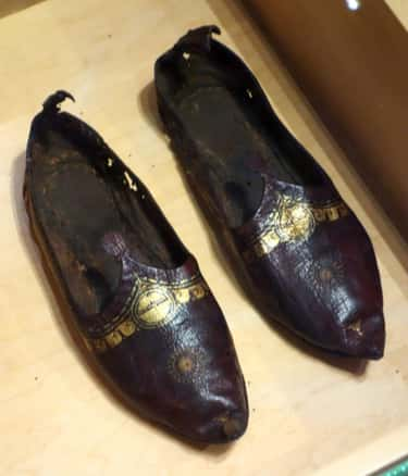 4th Century Red Leather Shoe