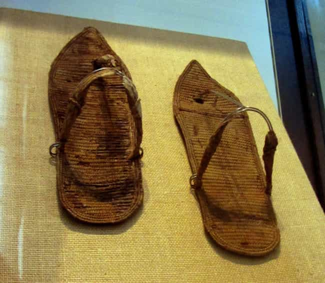 Ancient Egyptian Sandals... is listed (or ranked) 1 on the list 25 Pieces Of Footwear Throughout History That Made Us Say 'Whoa'