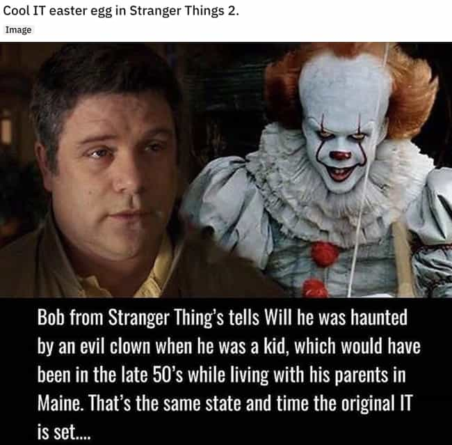 Pennywise Lives is listed (or ranked) 2 on the list 21 Small But Shocking Details From 'Stranger Things'