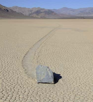 The Death Valley Sailing Stones Don't Move On Their Own, They Float On Pieces Of Ice