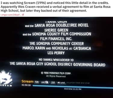 No Thanks At All is listed (or ranked) 1 on the list 19 Small But Chilling Details In The 'Scream' Franchise