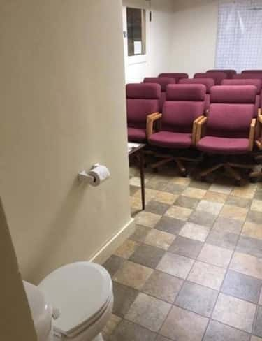 Performance Anxiety? is listed (or ranked) 1 on the list 21 Unforgivable Bathroom Design Fails That Gave Us Anxiety