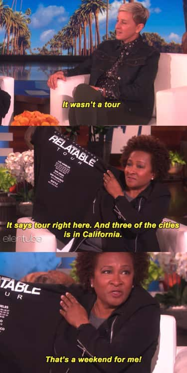 Wanda Sykes Was Not Impressed  is listed (or ranked) 2 on the list 11 Times Celebs Clapped Back At Ellen DeGeneres