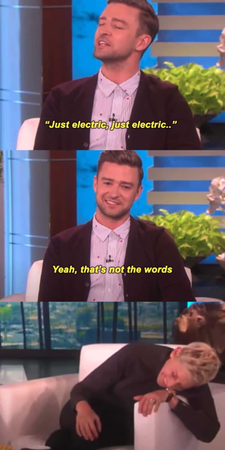 Justin Timberlake Made Fun Of Ellen For Sending Him A Video Of Her Singing 'Just Imagine' But Using The Wrong Lyrics