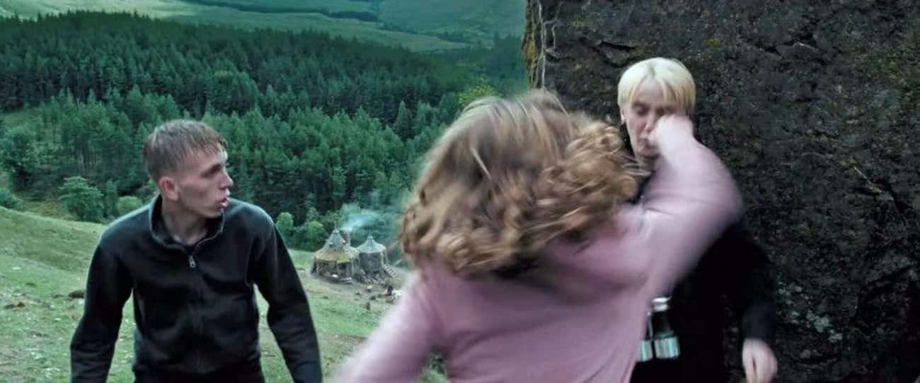 In The Scene Where Hermione Pu is listed (or ranked) 1 on the list Surprising Behind-The-Scenes Facts About 'Harry Potter and the Prisoner of Azkaban'