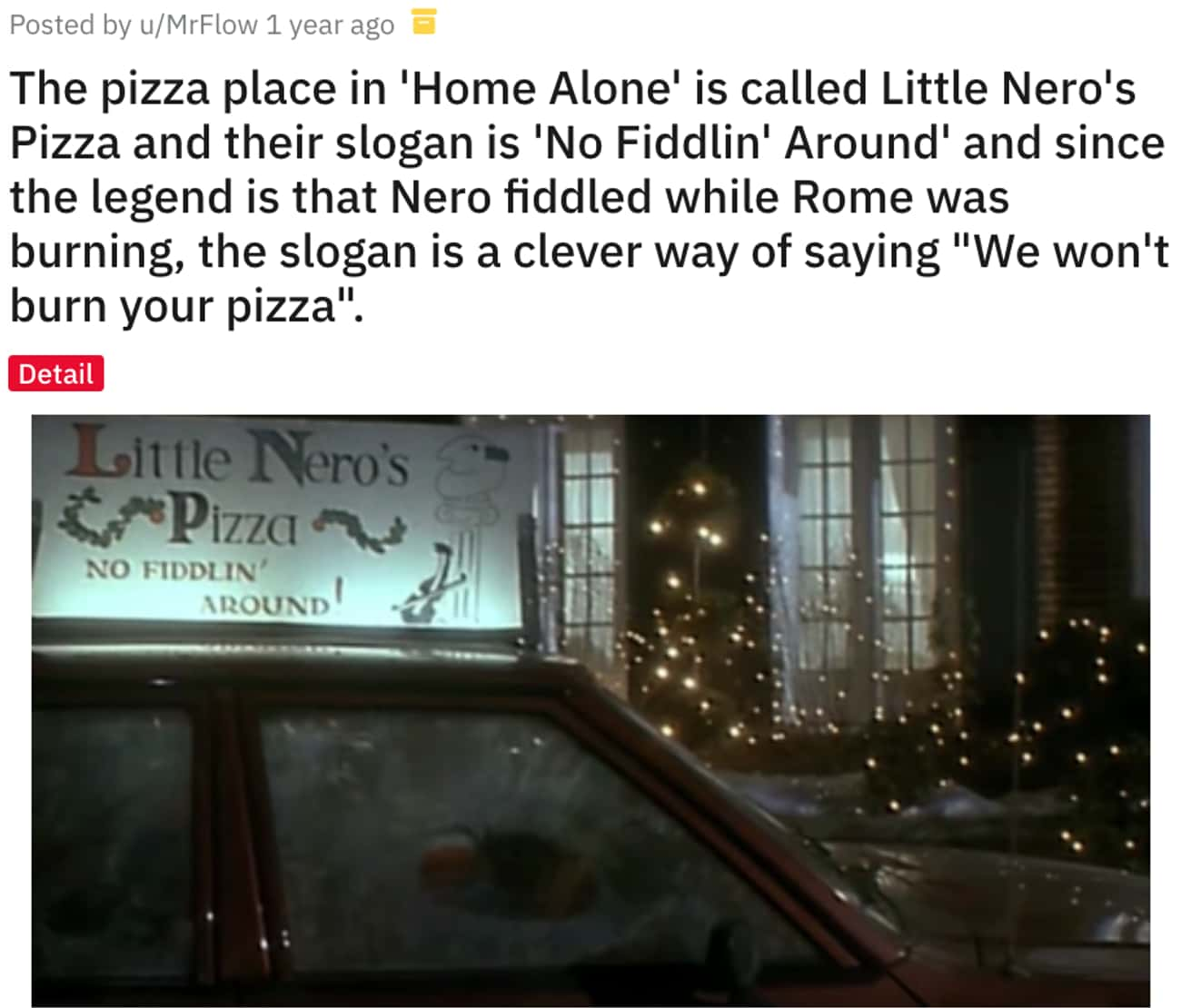 """We Won't Burn Your Pizza"" is listed (or ranked) 4 on the list 12 Awesome Movie Details In 'Home Alone' Fans Are Noticing About The Classic"