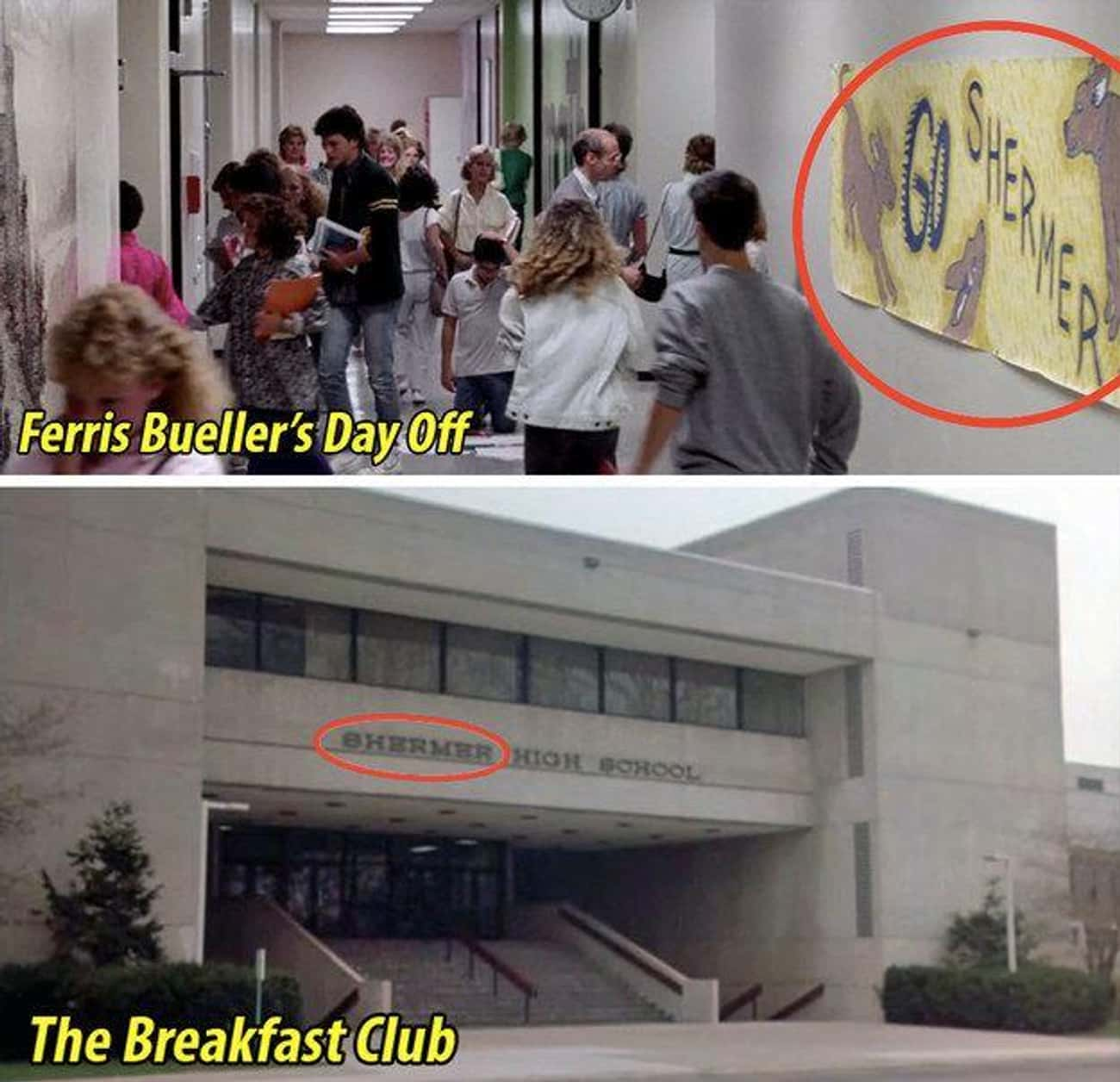 Shared Universe is listed (or ranked) 4 on the list Don't You Forget About These Small But Poignant Details From 'The Breakfast Club'