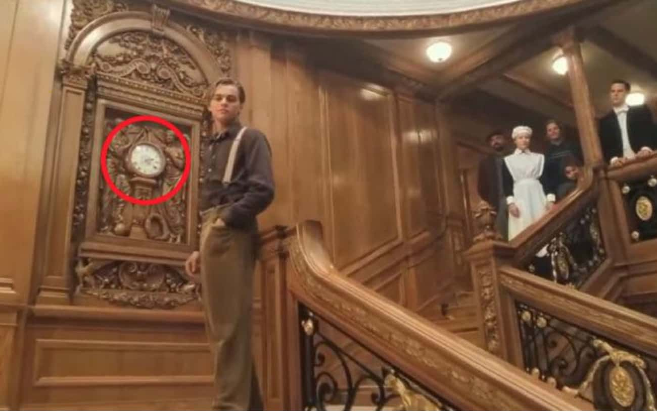 In The Final Scene, The Clock  is listed (or ranked) 3 on the list 20 Small But Poignant Details From 'Titanic' That Make Us Never Want To Let Go