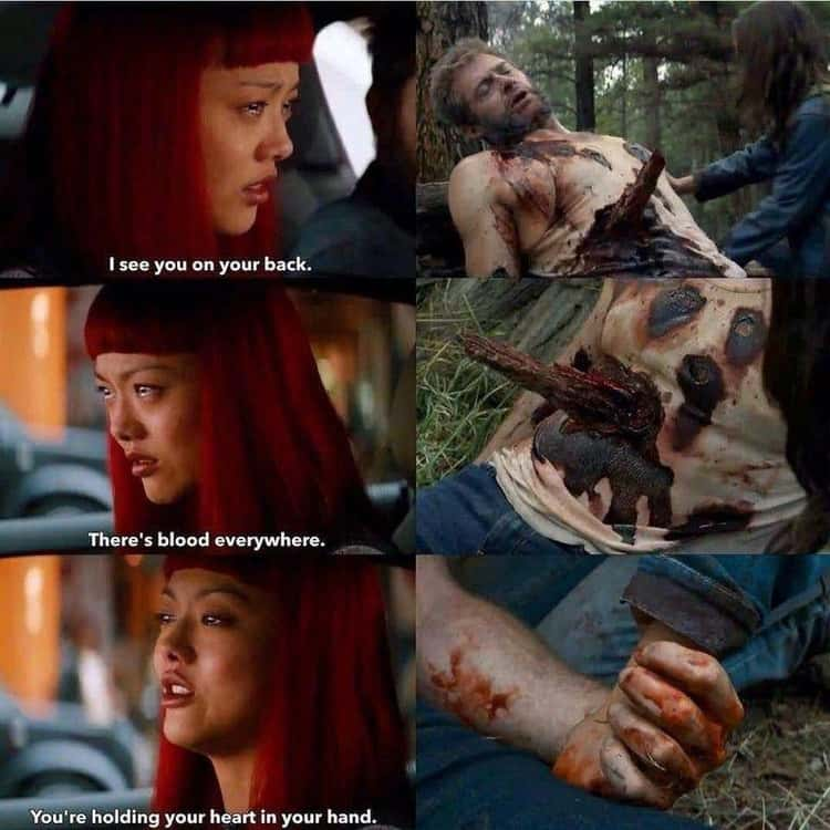 Logan's death is a direct callback to a scene in 'The Wolverine.'