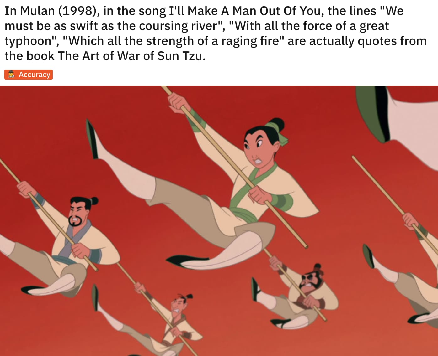 Image of Random 'Mulan' Movie Details That Fans Have Now Noticed