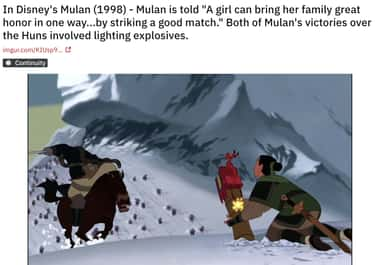 The 'Good Match' Advice Was Mo is listed (or ranked) 2 on the list 18 'Mulan' Movie Details That Fans Have Now Noticed