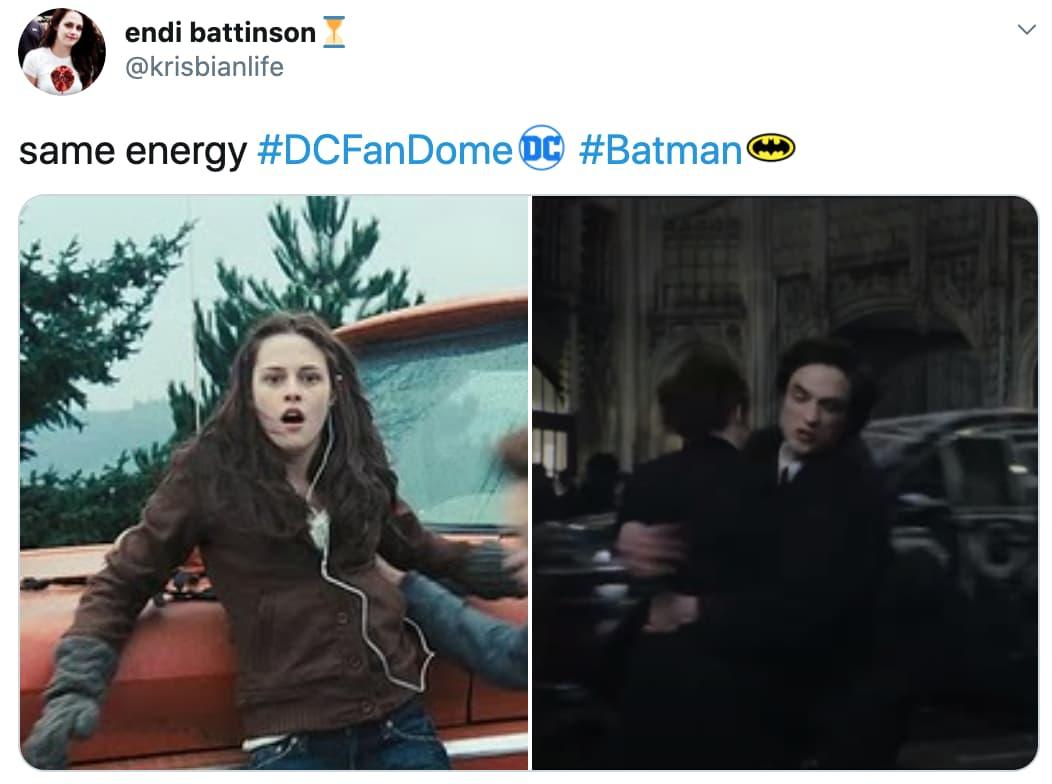 Robert Pattinson As The Batman on Random Fans React To All Of Super Big Superhero News Announced From DC FanDome