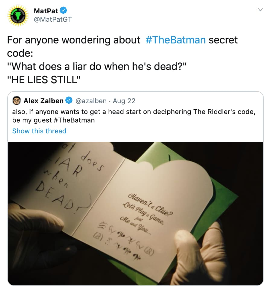 Reaction To The Riddler In 'The Batman' on Random Fans React To All Of Super Big Superhero News Announced From DC FanDome