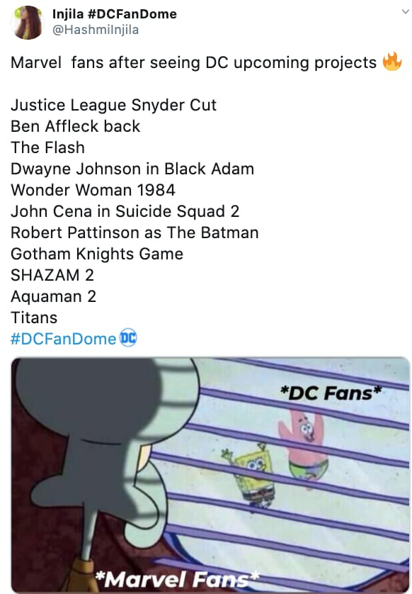 Marvel Vs. DC on Random Fans React To All Of Super Big Superhero News Announced From DC FanDome