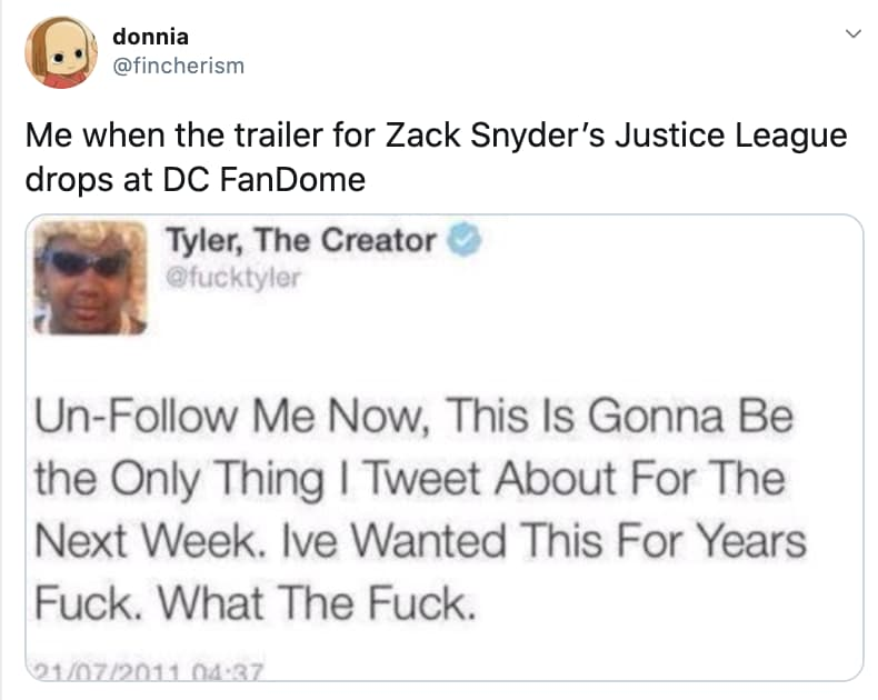 All The 'Justice League' News on Random Fans React To All Of Super Big Superhero News Announced From DC FanDome