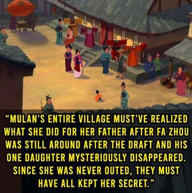 The Whole Village Must've Sile is listed (or ranked) 2 on the list 20 Weird 'Mulan' Thoughts That Actually Make A Good Point