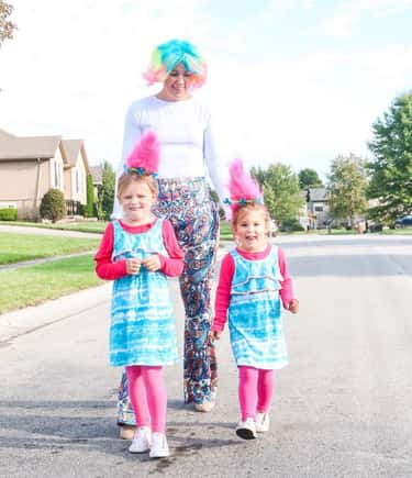 The Trolls from 'Trolls World  is listed (or ranked) 2 on the list Family Halloween Costume Ideas For 2020
