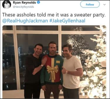 Totally Fell For It is listed (or ranked) 1 on the list 17 Times Ryan Reynolds And Hugh Jackman Couldn't Help But Troll Each Other