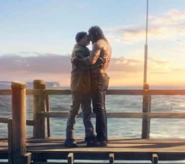 When greeting each other in 'Aquaman' Jason Mamoa and Temeura Morrison decided to do the traditional Maori greeting of touching noses, known as the Hongi, to honor their Polynesian heritage.